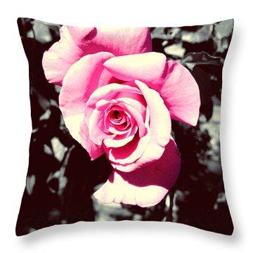 Pink Rosetta  Throw Pillow
