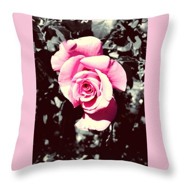 Pink Rosetta  Throw Pillow by Sherry Flaker
