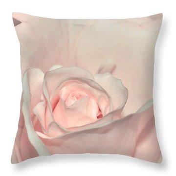 Pink Satin Throw Pillow by Kaye Menner