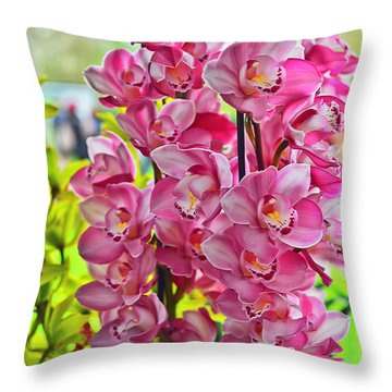 Pink Shadows Throw Pillow