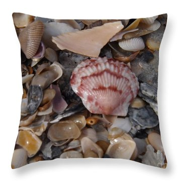 Throw Pillow featuring the photograph Pink Shell Find by Brigitte Emme