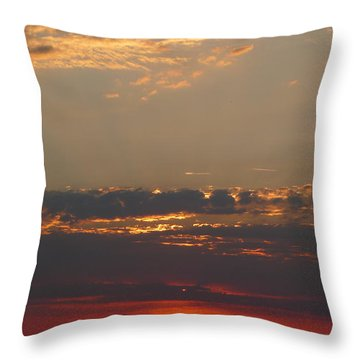 Pink Sky Throw Pillow by Nora Boghossian
