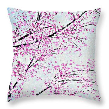 Pink Spring Throw Pillow by Kume Bryant