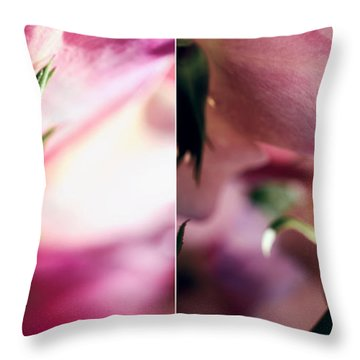 Pink Summer Roses Throw Pillow by Sabine Jacobs