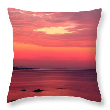 Pink Sunrise  Throw Pillow by Leyla Ismet