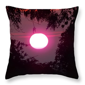 Pink Sunrise Breast Cancer Awareness Throw Pillow