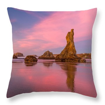 Pink Swirl Throw Pillow by Patricia Davidson
