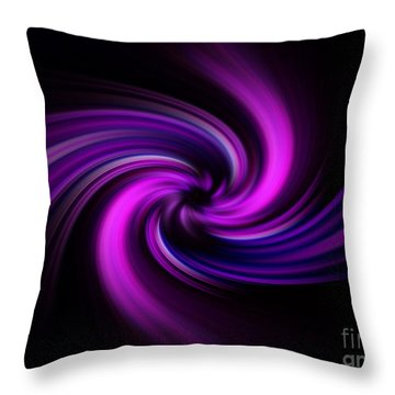 Throw Pillow featuring the digital art Pink Swirl by Trena Mara