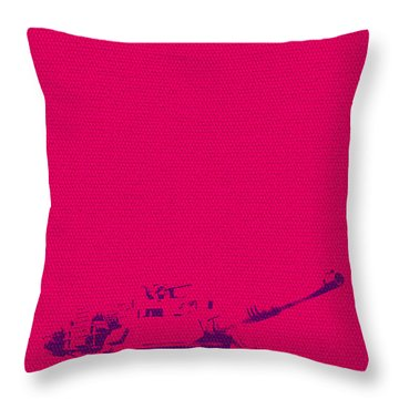 Throw Pillow featuring the mixed media Pink Tank by Michelle Dallocchio