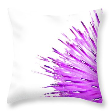 Pink Thistle  Throw Pillow
