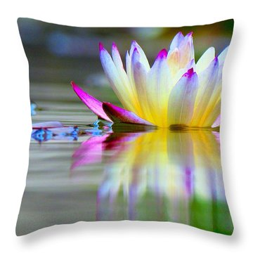Pink Tips Emerge Throw Pillow