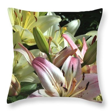 Pink To White  Throw Pillow