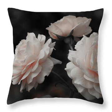 Pink Trio Throw Pillow by Michelle Joseph-Long