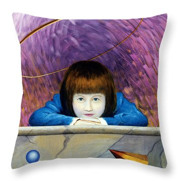 Pink Tunnel Throw Pillow