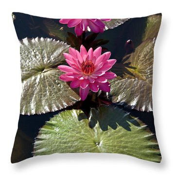 Pink Water Lily IIi Throw Pillow
