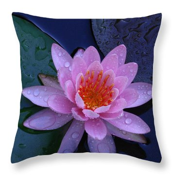 Throw Pillow featuring the photograph Pink Waterlily by Raymond Salani III