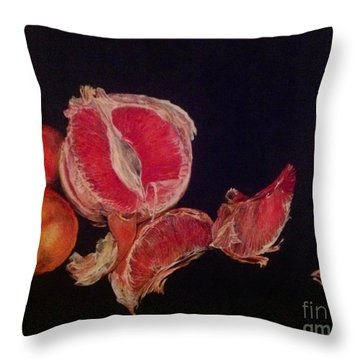 Pink Zest Throw Pillow by Iya Carson
