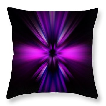 Throw Pillow featuring the digital art Pinks by Trena Mara