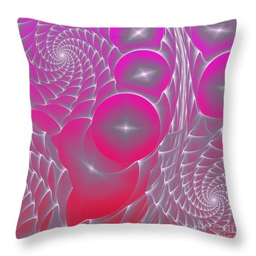 Throw Pillow featuring the digital art Pinky Space by Hanza Turgul
