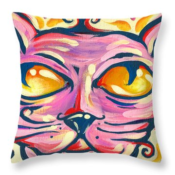 Throw Pillow featuring the painting Pinky Toe by Nada Meeks