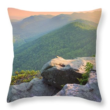 Pinnacle Rock Throw Pillow by Mary Almond
