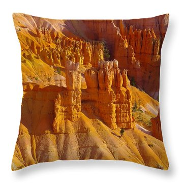 Pinnicles At Sunset Point Bryce Canyon National Park Throw Pillow by Jeff Swan