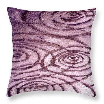 Pinot Noir Ripples Throw Pillow
