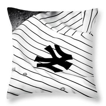 Pinstripe Pride Throw Pillow by John Rizzuto