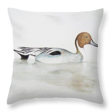 Pintail Duck Throw Pillow