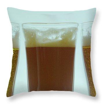 Pints Of Beer Throw Pillow