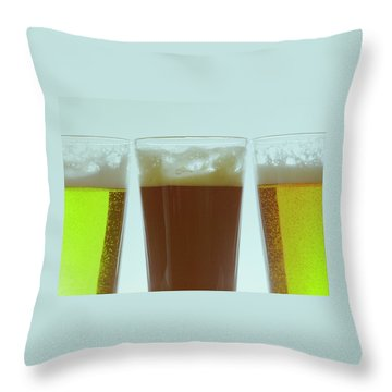 Pints Of Beer Throw Pillow