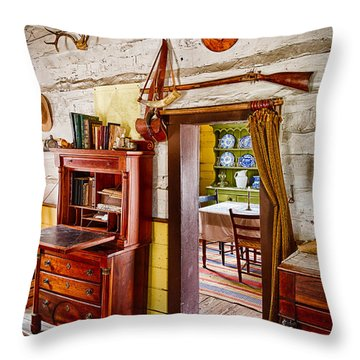 Pioneer Dining Room Throw Pillow by Inge Johnsson