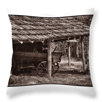 Pioneer Shed Calotype Throw Pillow by Travis Burgess