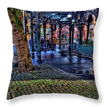 Pioneer Square In Seattle Throw Pillow