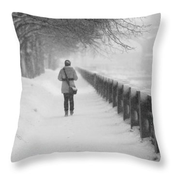 Pioneering The Alley - Featured 3 Throw Pillow by Alexander Senin