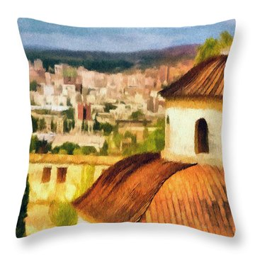 Pious Witness To The Passage Of Time Throw Pillow