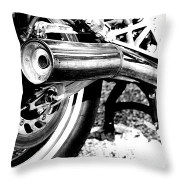 Pipe Black And White Throw Pillow