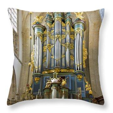 Pipe Organ In Breda Grote Kerk Throw Pillow