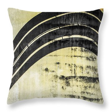 Piped Abstract 4 Throw Pillow by Carolyn Marshall