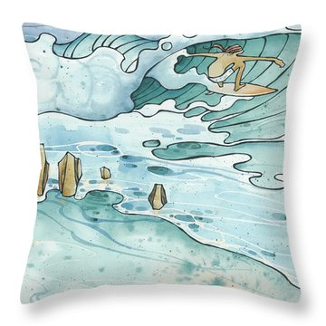 Pipeline Throw Pillow by Harry Holiday