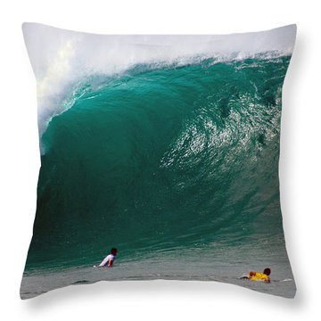 Pipeline Wave Hawaii Throw Pillow by Kevin Smith