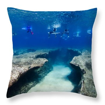 Pipeline's Hungry Reef Throw Pillow
