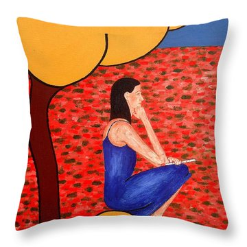 Piper Throw Pillow by Patrick J Murphy