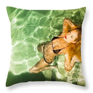 Wet Piper Precious No73-5824 Throw Pillow by Amyn Nasser