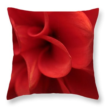 Scarlet Pipes Throw Pillow
