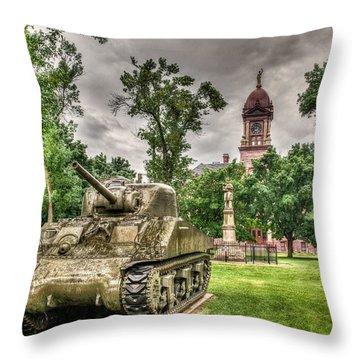 Pipestone Courthouse Throw Pillow