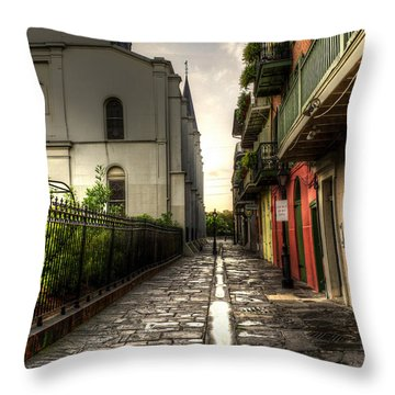 Pirate Alley Throw Pillow by Greg and Chrystal Mimbs