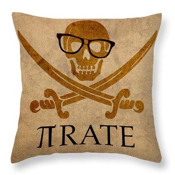 Pirate Math Nerd Humor Poster Art Throw Pillow