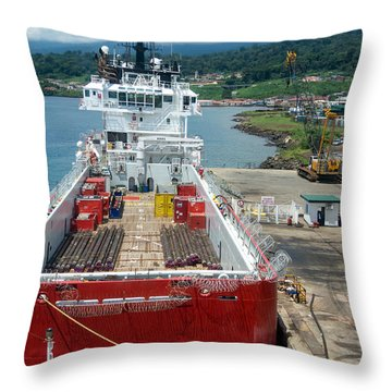 Pirate Ready Throw Pillow by Gregory Daley  PPSA