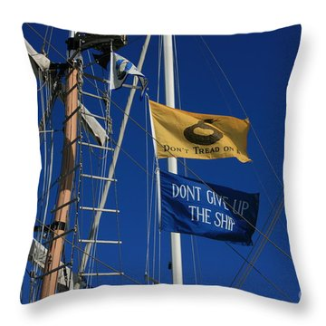 Pirate Rigging Throw Pillow by Marty Fancy